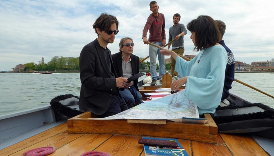 Italienisch für Ausländer - Italian language lessons on a boat, organized by me in the Italian school in Venice, for teaching italian in Venice